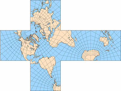 Map projections polyhedral maps cubic gnomonic map sciox Gallery